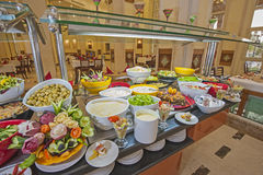 Selction of salads at a restaurant buffet Royalty Free Stock Images