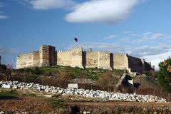Selcuk castle royalty free stock photos