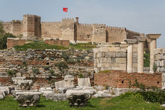 Selcuk castle Royalty Free Stock Image