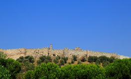 Selcuk castle walls, Turkey Stock Photography