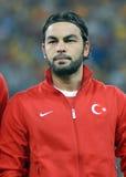 Selcuk Inan im Spiel die Rumänien-Türkei-Weltcup-der näheren Bestimmung Stockbild