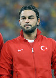 Selcuk Inan in Romania-Turkey World Cup Qualifier Game Stock Image