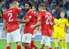 Selcuk Inan in Romania-Turkey World Cup Qualifier Game Royalty Free Stock Photo