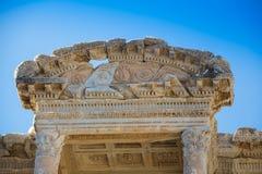 Selcuk, Izmir - die Türkei 25. November 2014 Celsus Bibliothek Die alte Stadt von Ephesus in Selcuk, Izmir - die Türkei Lizenzfreies Stockfoto