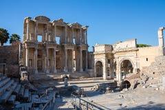 Selcuk, Izmir - die Türkei 25. November 2014 Celsus Bibliothek Die alte Stadt von Ephesus in Selcuk, Izmir - die Türkei Lizenzfreie Stockbilder