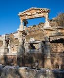Selcuk, Izmir - die Türkei 25. November 2014 Celsus Bibliothek Die alte Stadt von Ephesus in Selcuk, Izmir - die Türkei Lizenzfreies Stockbild