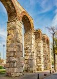 Selcuk Roman Aquaduct in Turkey Stock Photography