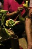 Seldmade de la decoración por el bambú Foto de archivo libre de regalías