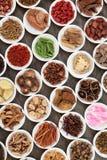 Seleção chinesa da erva Imagens de Stock Royalty Free