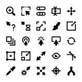 A seleção, cursores, Resize, move-se, controles e ícones 2 do vetor das setas da navegação ilustração royalty free