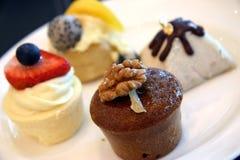 Seleção das sobremesas Imagem de Stock Royalty Free