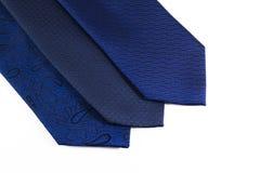 Seleção de laços azuis dos homens fotografia de stock royalty free