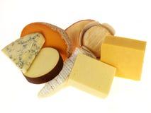 Seleção de queijos misturados foto de stock