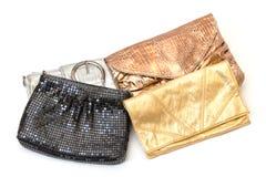Seleção de sacos de noite fotos de stock royalty free
