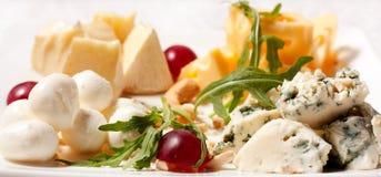 Seleção de tipos diferentes de queijo Imagem de Stock Royalty Free