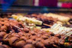 Seleção deliciosa do alimento da fantasia do mercado do Natal Fotos de Stock