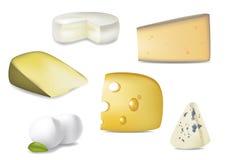 Seleção deliciosa do queijo Fotos de Stock Royalty Free