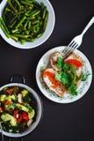 Seleção do alimento saudável foto de stock