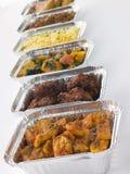 A seleção do Indian leva embora pratos Fotografia de Stock Royalty Free