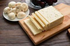 Seleção do queijo - leiteria orgânica fotos de stock royalty free