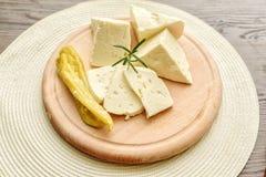 Seleção do queijo - produtos láteos orgânicos Fotos de Stock