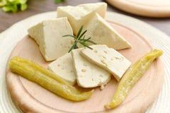 Seleção do queijo - produtos láteos orgânicos fotografia de stock royalty free