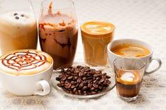 Seleção do tipo diferente do café Fotografia de Stock