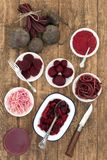 Seleção do vegetal das beterrabas Imagens de Stock Royalty Free