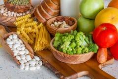 Seleção dos nutrientes para a dieta do vegetariano fotografia de stock royalty free