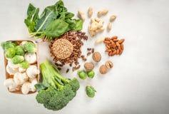 Seleção dos produtos com um índice alto da proteína vegetal foto de stock royalty free