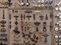 Seleção grande de botões dos gabinetes Foto de Stock