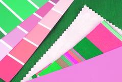 seleção na moda do projeto da cor para o interior Fotos de Stock Royalty Free