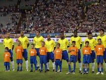 Seleção nacional do futebol de Brasil imagens de stock