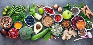 Seleção saudável do alimento foto de stock royalty free