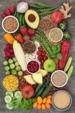 Seleção super alcalina do alimento imagens de stock