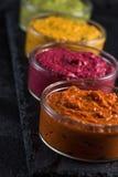Seleção vegetal orgânica do mergulho, fundo do alimento Fotos de Stock Royalty Free