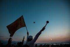 Selebration de liberté dans Goa Images stock
