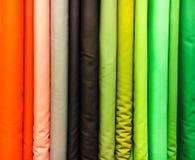 Selección colorida de las telas Imágenes de archivo libres de regalías