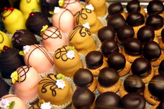 Selección de chocolates Imágenes de archivo libres de regalías
