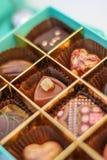Selección de chocolates Foto de archivo