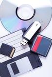 Selección de dispositivos de almacenamiento del equipo diferente Fotografía de archivo