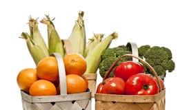 Selección de frutas y verduras frescas de Healty Fotos de archivo