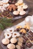 Selección de galletas del día de fiesta Imágenes de archivo libres de regalías