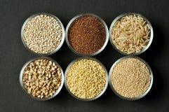 Selección de granos gluten-libres Imagen de archivo