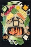 Selección de la comida de la dieta macrobiótica imágenes de archivo libres de regalías