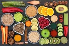 Selección de la comida sana del Detox del hígado imagenes de archivo