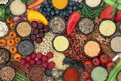 Selección de la comida sana del Detox del hígado foto de archivo libre de regalías