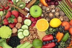 Selección de la comida sana del Detox del hígado fotografía de archivo