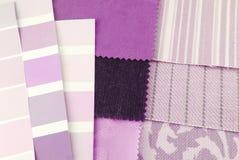 Selección de la tapicería y de la tapicería Fotografía de archivo libre de regalías
