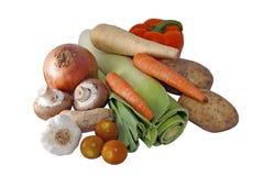 Selección de las verduras frescas Foto de archivo